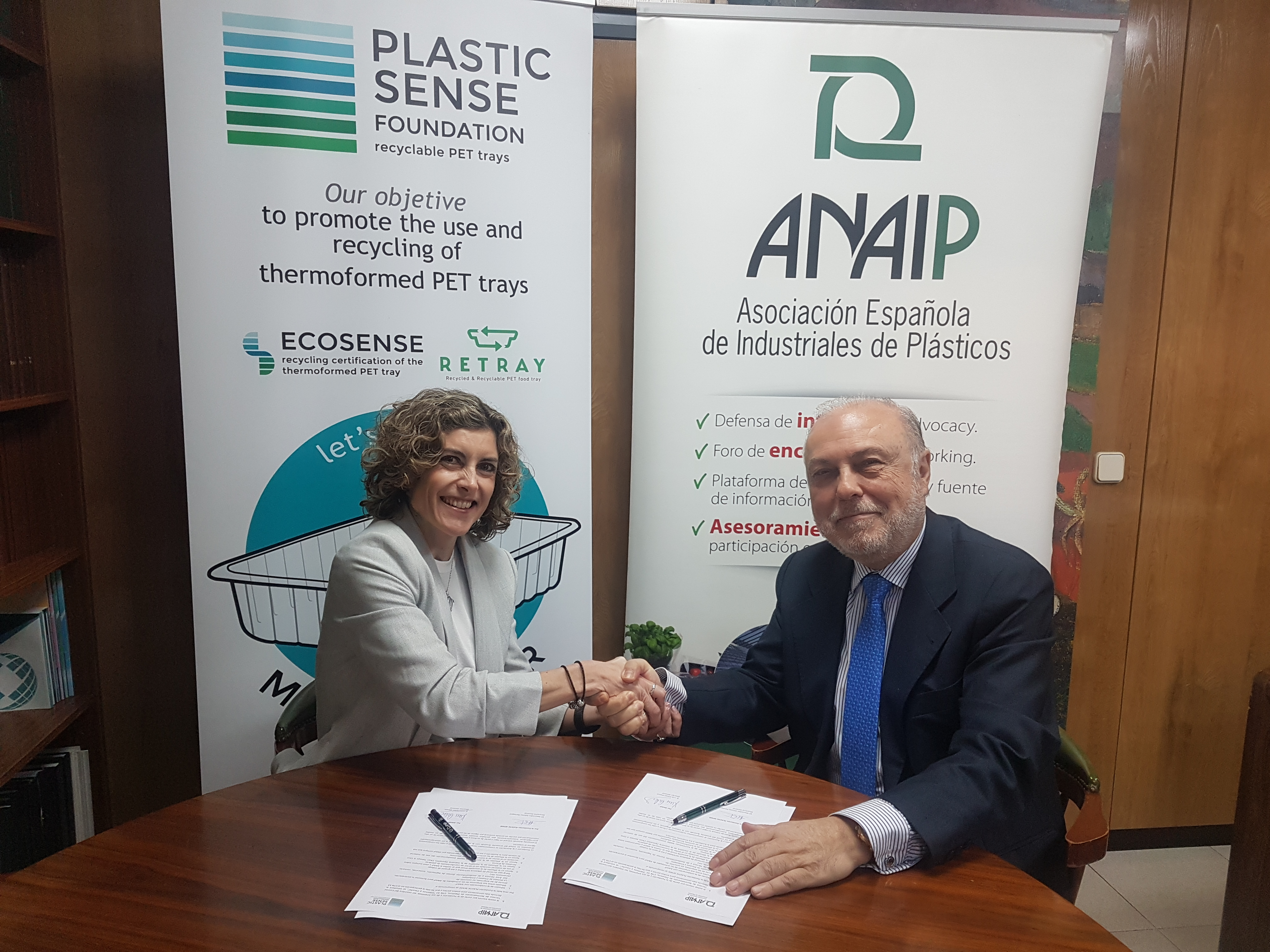 ANAIP and the PLASTIC SENSE Foundation have signed an agreement to support recycling promotion